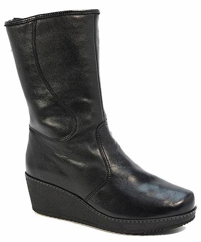 d8c8c562e Материал верха Натуральная кожа. Подошва ТЭП Материал подкладки Натуральный  мех. Тип обуви Сапоги Полный цвет Черный Полнота G (Максимальная) Фасон  Тайга